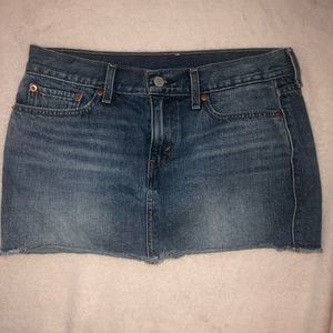 Levi denim mini skirt